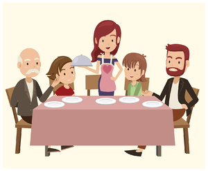 APRIL_DIVERSE DINNER TABLE_001_GUNAWAN from Vecteezy.com