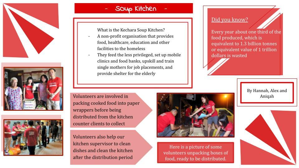 Aniqah, Hannah & Alex - Kechara Soup Kitchen Poster