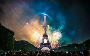 Bastille Day - fireworks over the Eiffel Tower