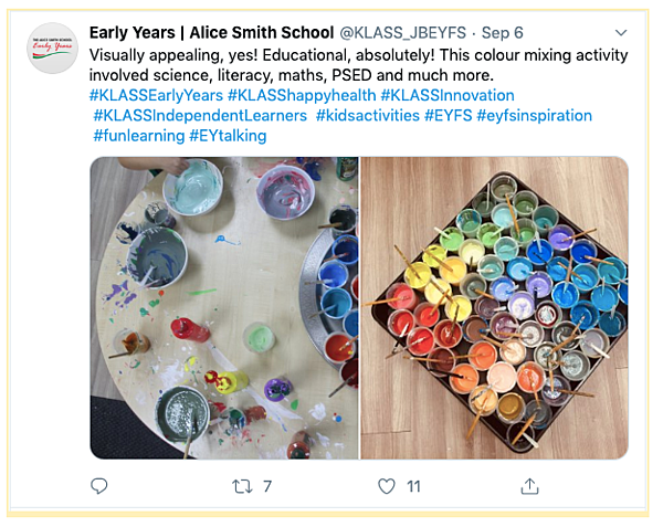 Early Years_Foundation Stage_Alice Smith School Tweet