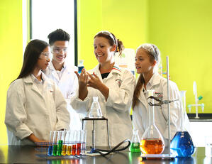 Science Students at Alice Smith School