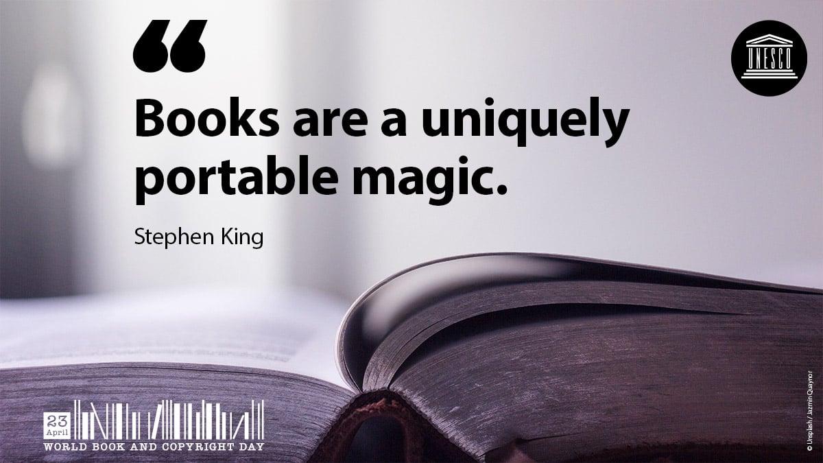 BookDay2021_Stephen_King'books are a uniquely portable magic'