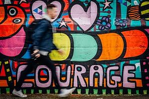 'Courage' Graffiti