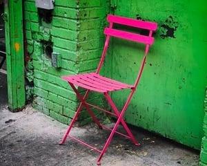 Empty chair outside