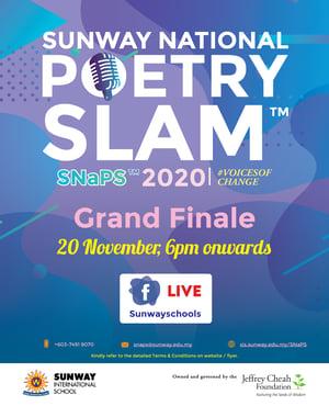 Sunway National Poetry Slam Grand Final poster