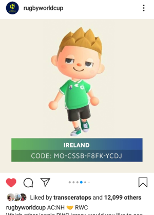 Irish Short on RWC post
