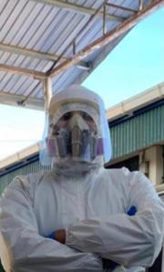 Dr Navin in PPE