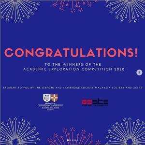 Oxbridge Society Congratulations visual