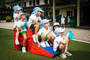 Children playing in KLASS playground