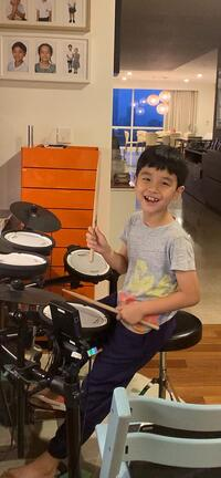 Aynn on his drums