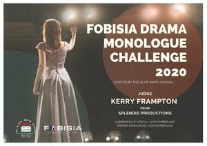 FOBISIA Monologue Challenge visual