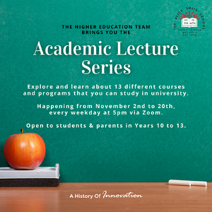 Academic Lecture series poster