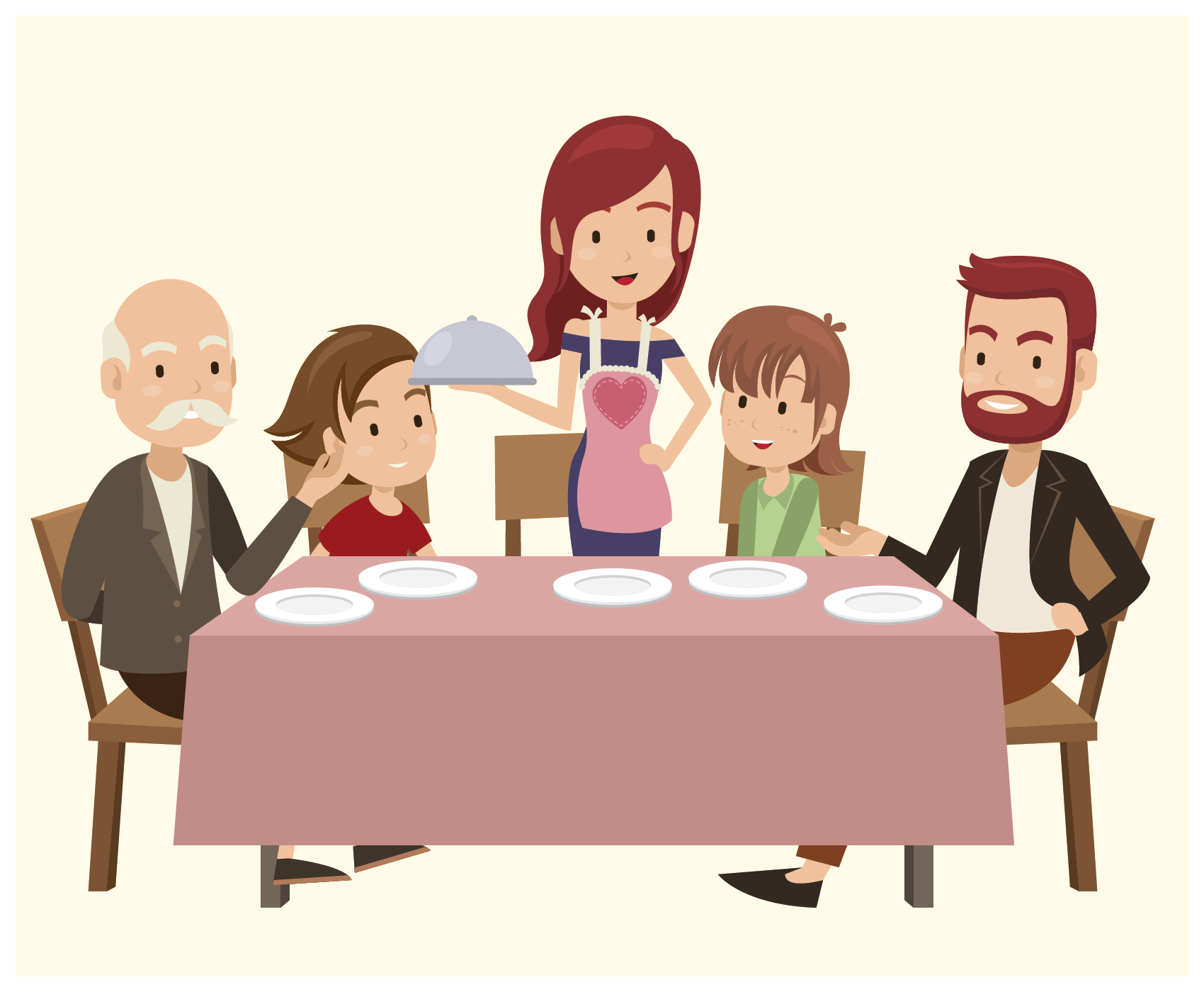 Family Dinner Table Conversation - how's it going?