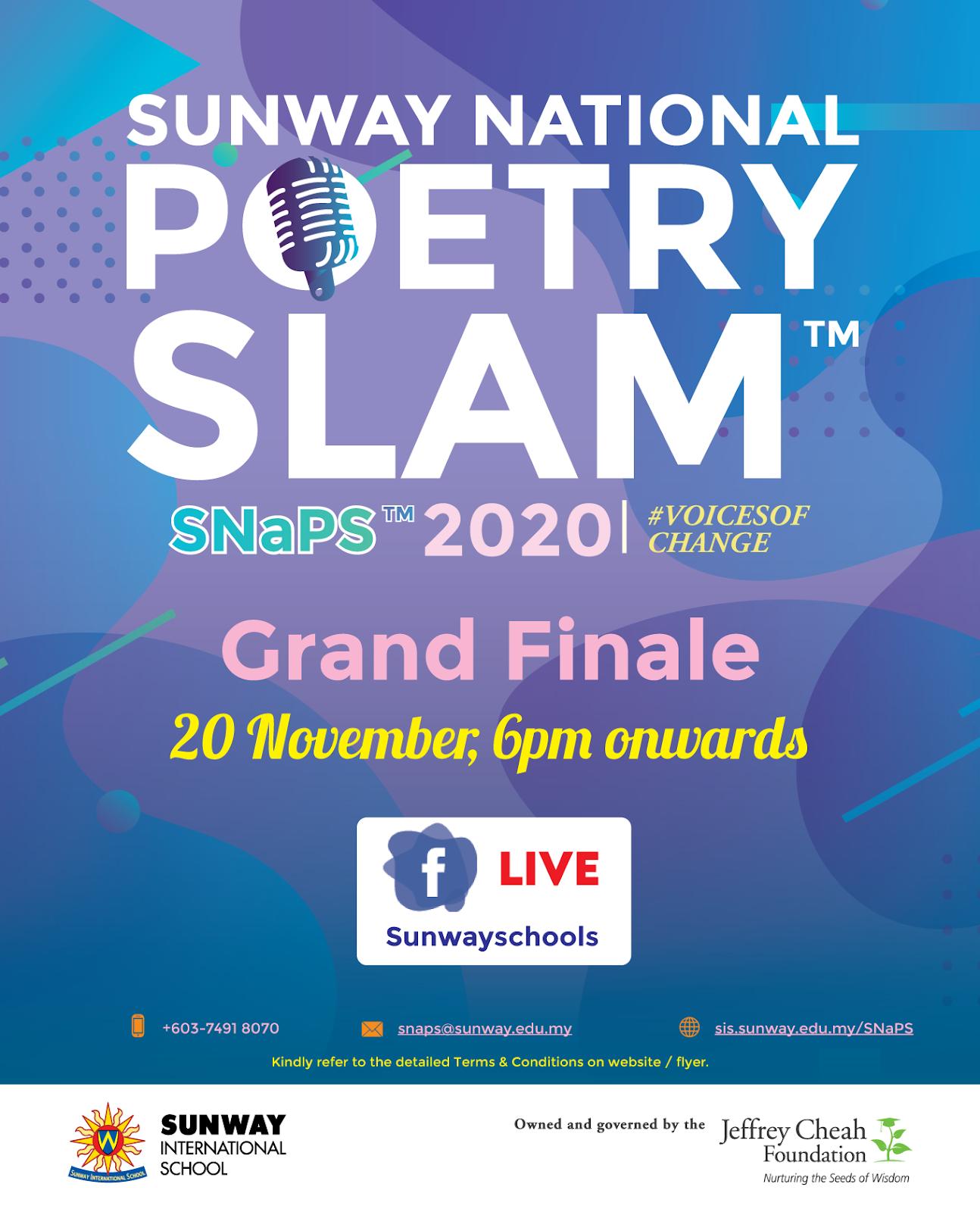 Sunway National Poetry Slam Success